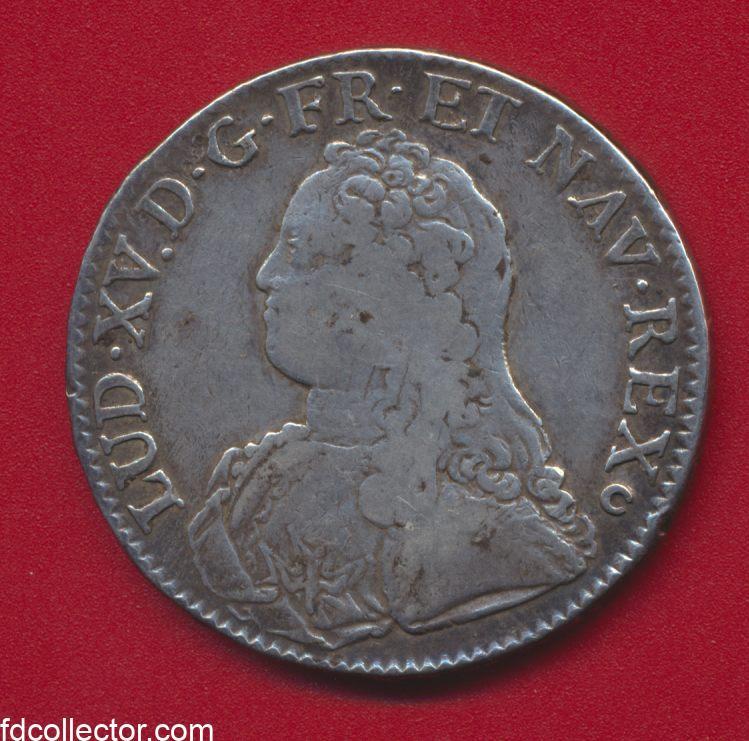 ecu-6-livres-louis-xv-branches-d-oliviers-1727-e-tours