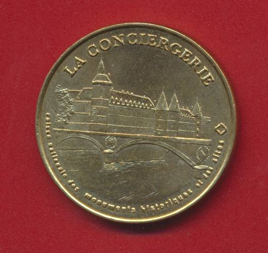 Medaille monnaie de paris la conciergerie 1999
