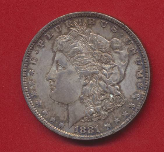 usa etats unis dollar type morgan 1881 o