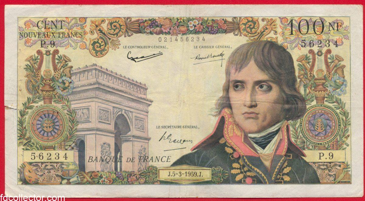 100-nouveaux-francs-bonaparte-banque-de-france-1959