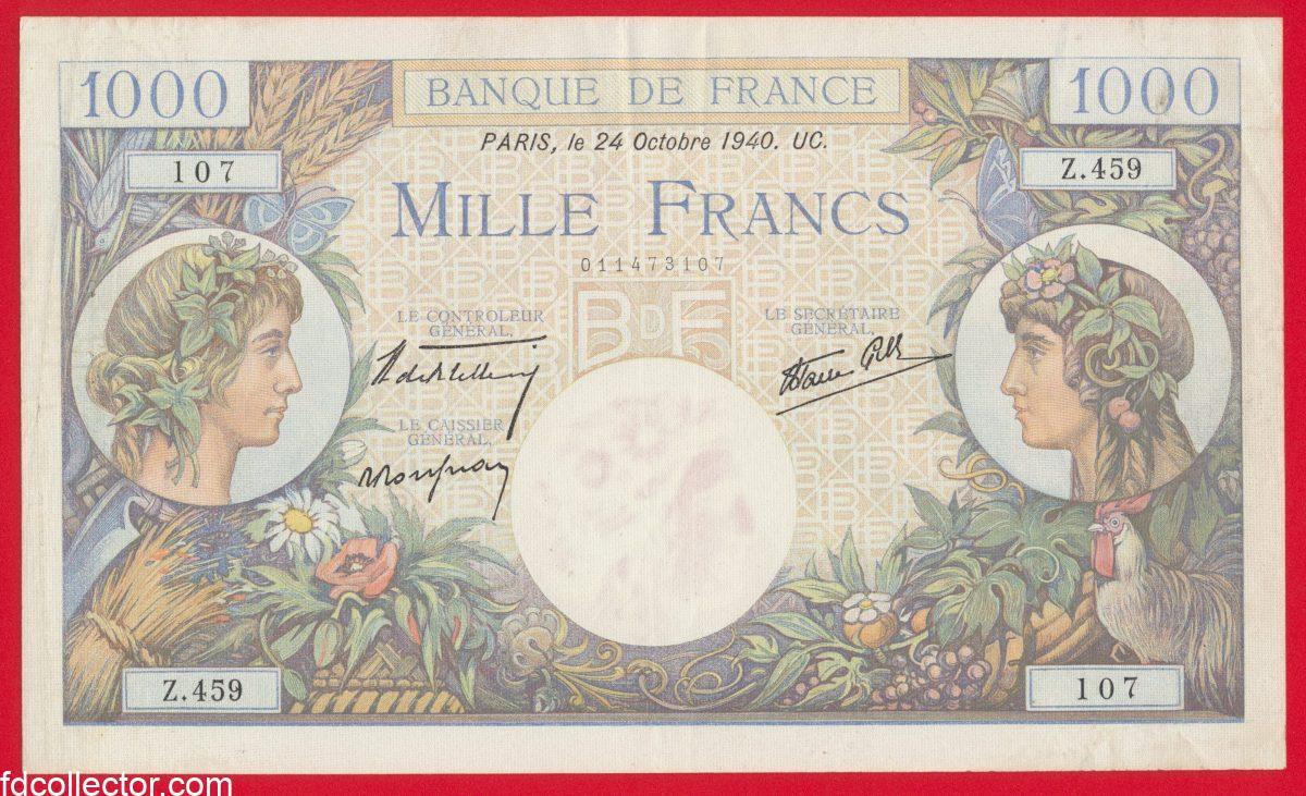 1000-francs-commerce-industrie-24-octobre-1940-459