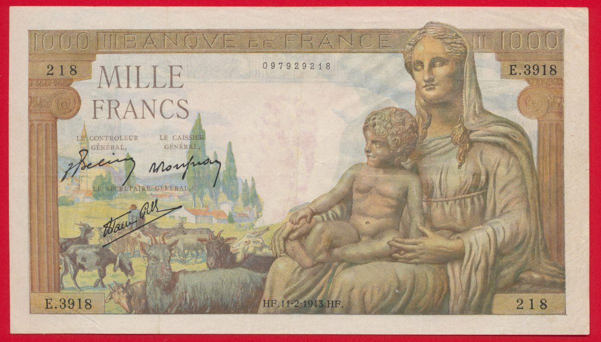 1000-francs-deesse-demeter-type-1942-11-2-1943-3918
