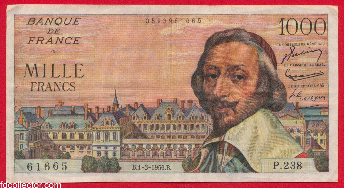 1000-francs-richelieu-type-1953-1-3-1956