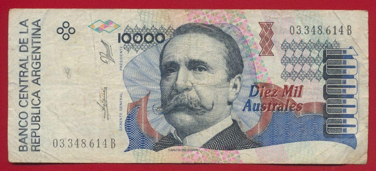 argentine 10000 australes