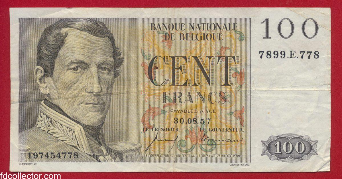 belgique-100-francs-30-08-57-4778