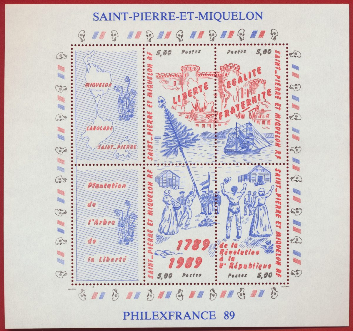 bloc-et-feuillet-saint-pierre-et-miquelon-philexfrance-1989