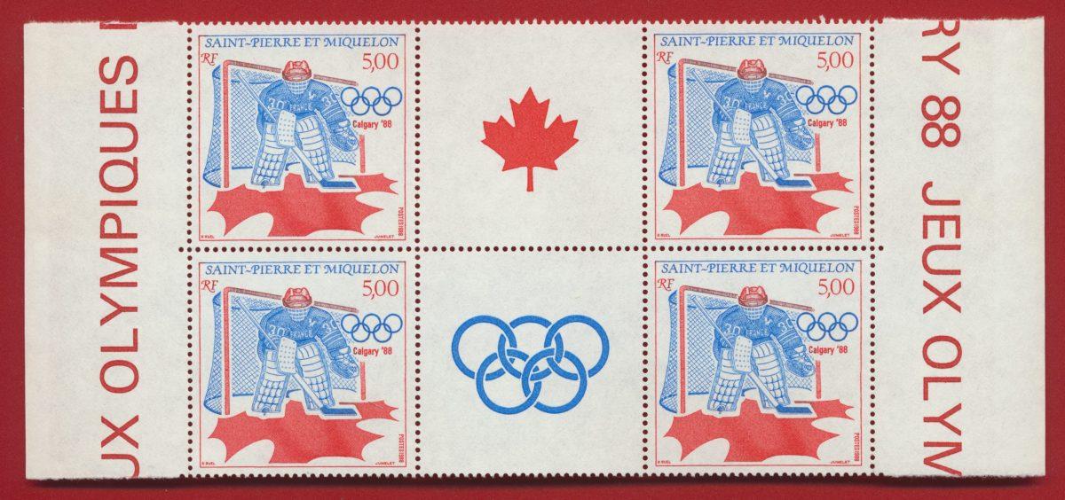 double-bande-saint-pierre-et-miquelon-jeux-olympiques-de-calgary - canada