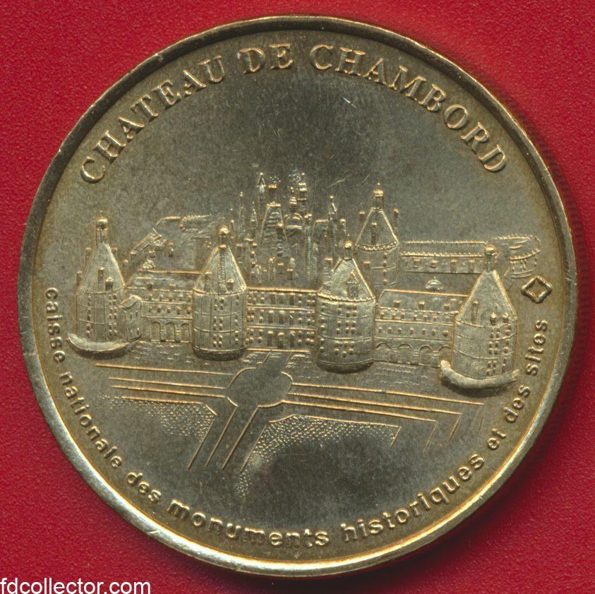 medaille-monnaie-de-paris-chateau-de-chambord-1998
