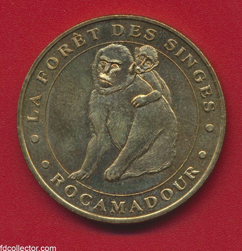 medaille-monnaie-de-paris-rocamadour-la-foret-des-singes-2003