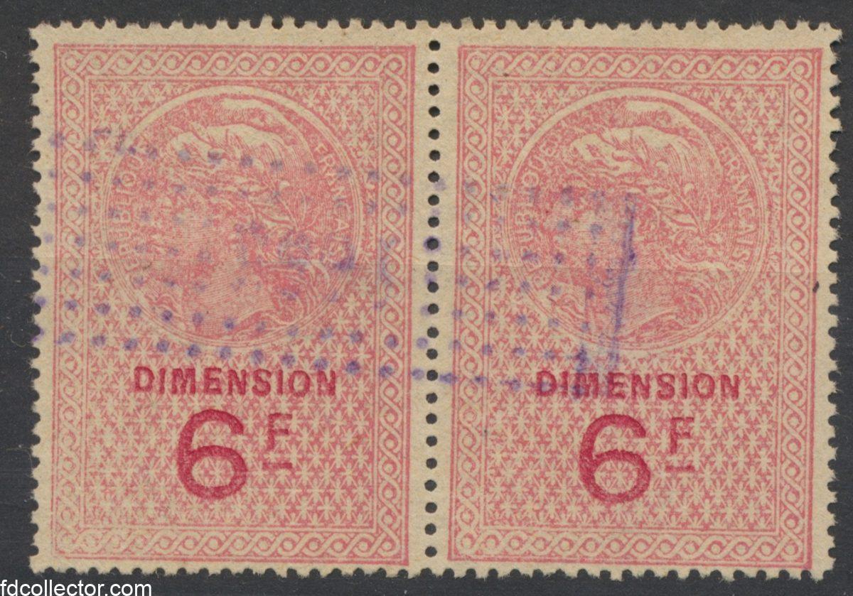 paire-timbre-fiscaus-dimension-6-francs