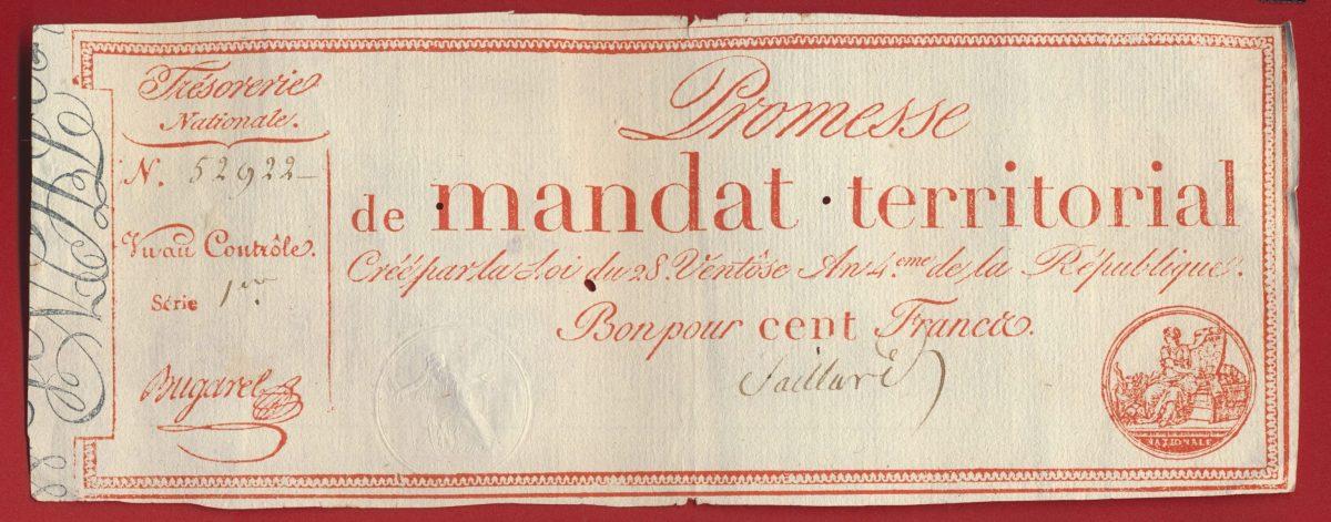 promesse-de-mandat-territorial-bon-pour-cent-francs-serie-1-52922