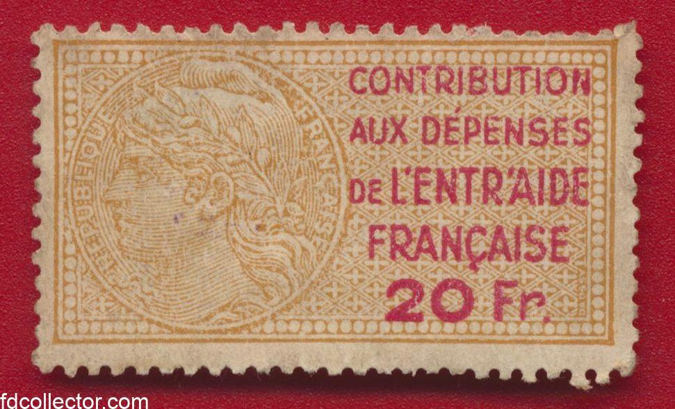 timbre-fiscal-contribution-entraide-francaise-20-francs