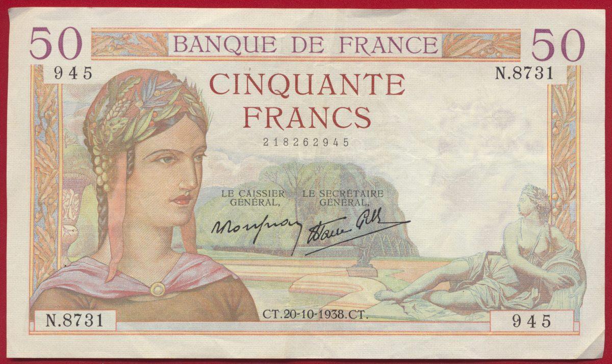 50-francs-ceres-20-10-1938-945