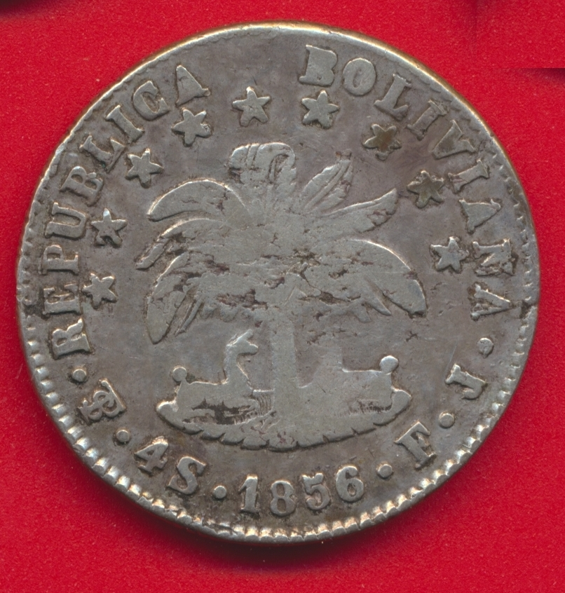 bolivie-4-soles-1856-republica-boliviana
