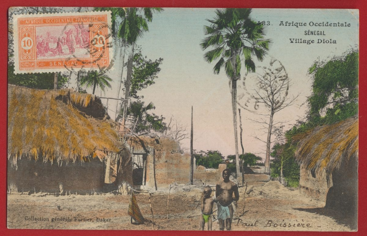 cpa-afrique-occidentale-senegal-village-diola