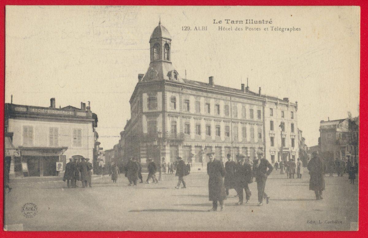 cpa-albi-hotel-des-postes-et-telegraphes