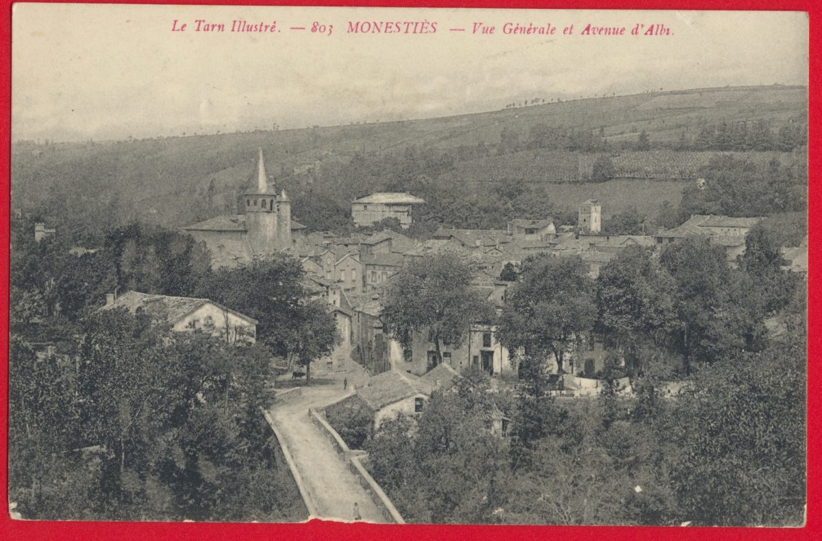 cpa-monesties-vue-generale-avenue-albi