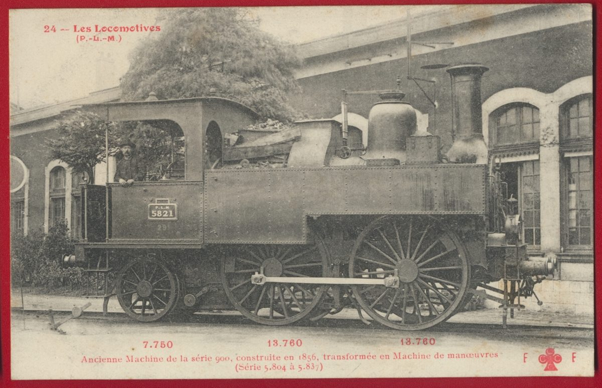 cpa-n24-locomotive-ancienne-machine-serie-900-manoeuvre-plm