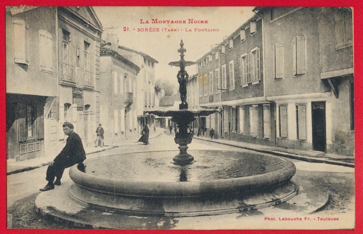 cpa-soreze-la-fontaine