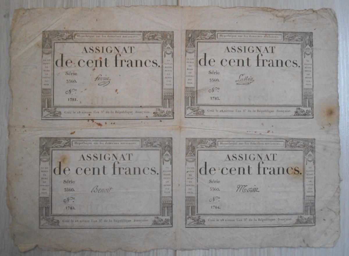 planche-assignat-de-cent-francs-serie-3360