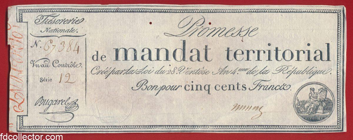 promesse-mandat-territorial-cinq-cents-francs-serie-12-n-67384