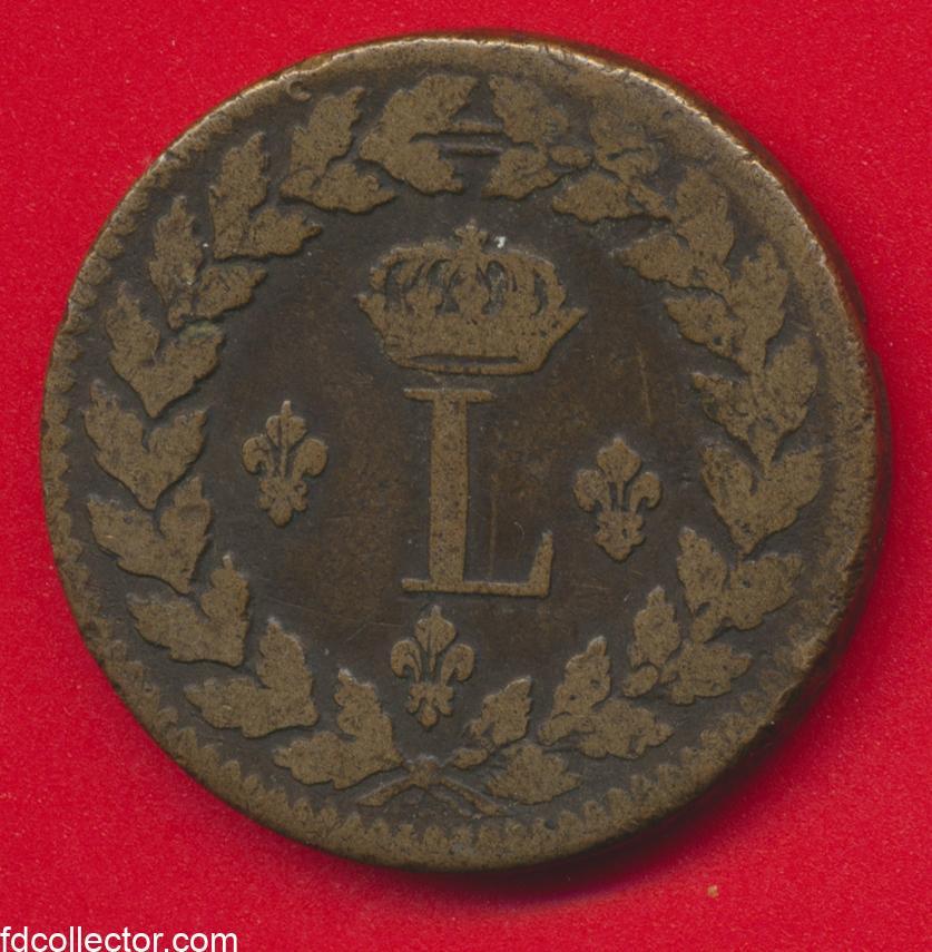 un-decime-louis-xviii-1815-bb-strasbourg-blocus-vs