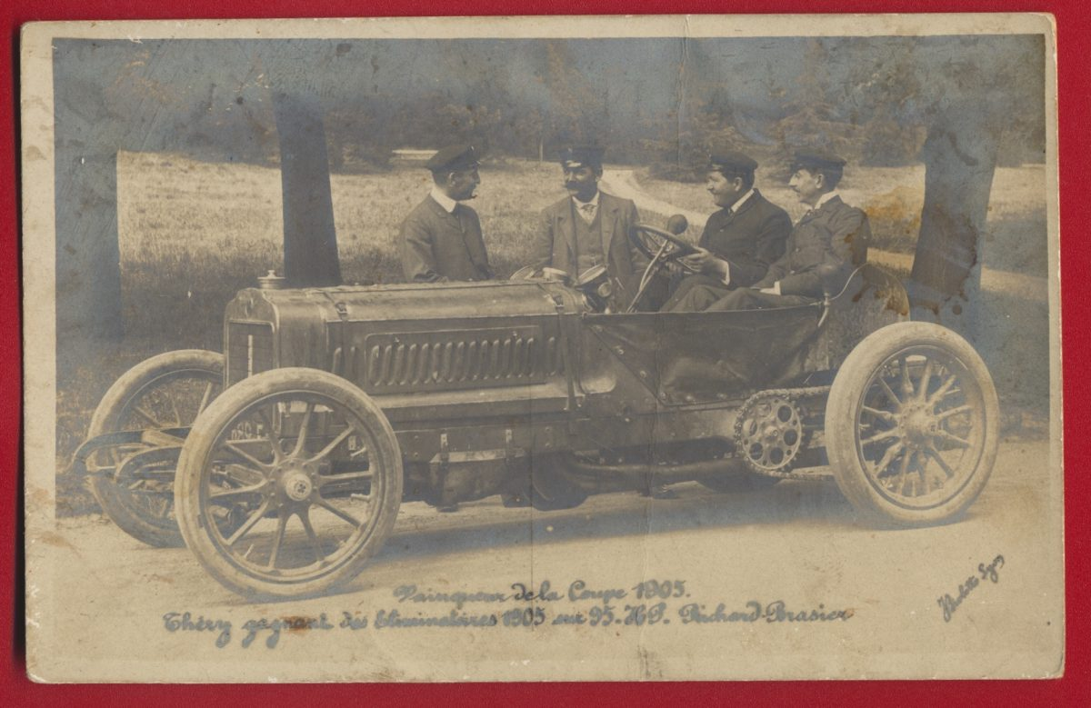carte-photo-thery-gagant-eliminatoires-1905-coupe-richard-brasier