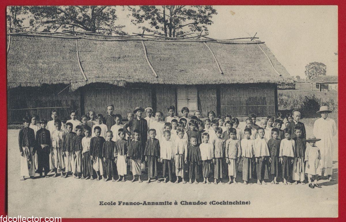 cpa-ecole-franco-annamite-chaudoc-cochinchine