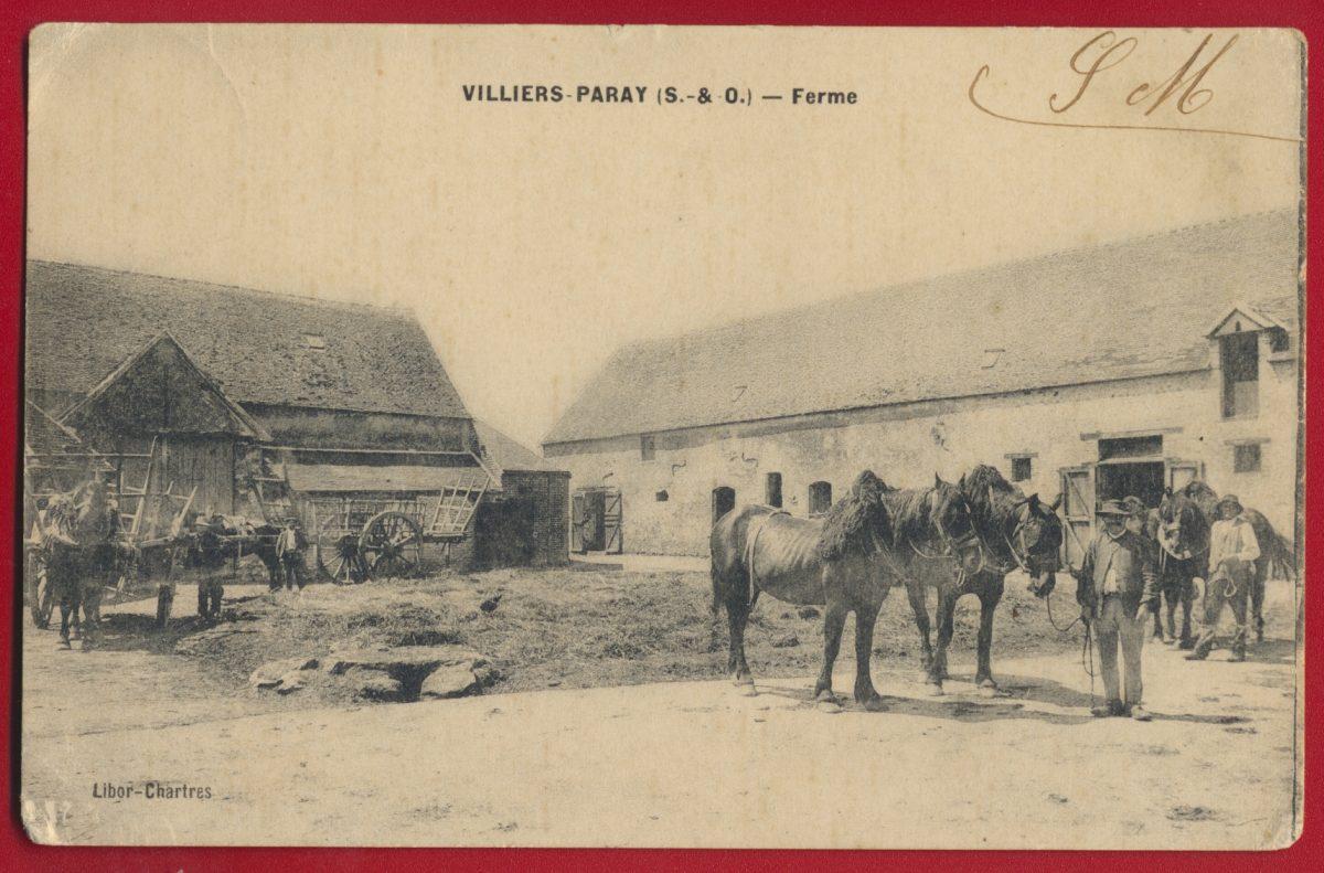 cpa-villiers-paray-seine-et-oise-ferme