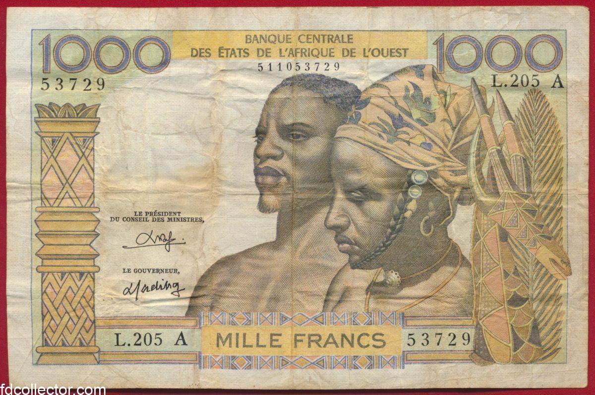 banque-centrale-afrique-ouest-1000-francs-cote-ivoire-ivory-coast