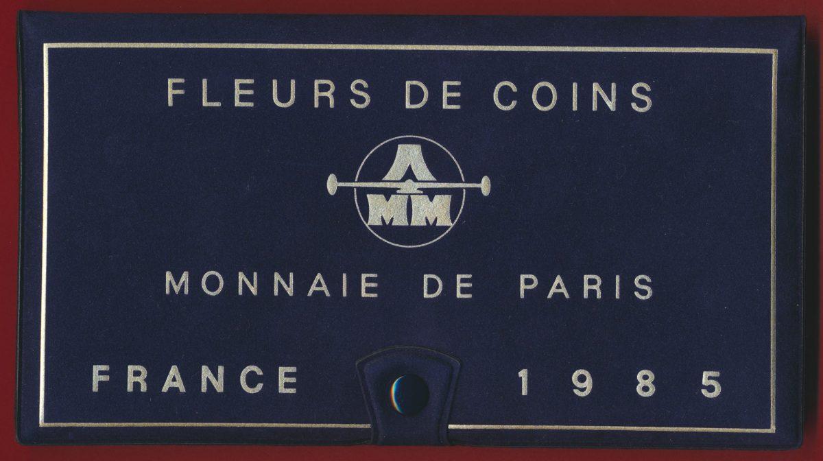 coffret-fdc-fleur-coin-1985-monnaie-paris