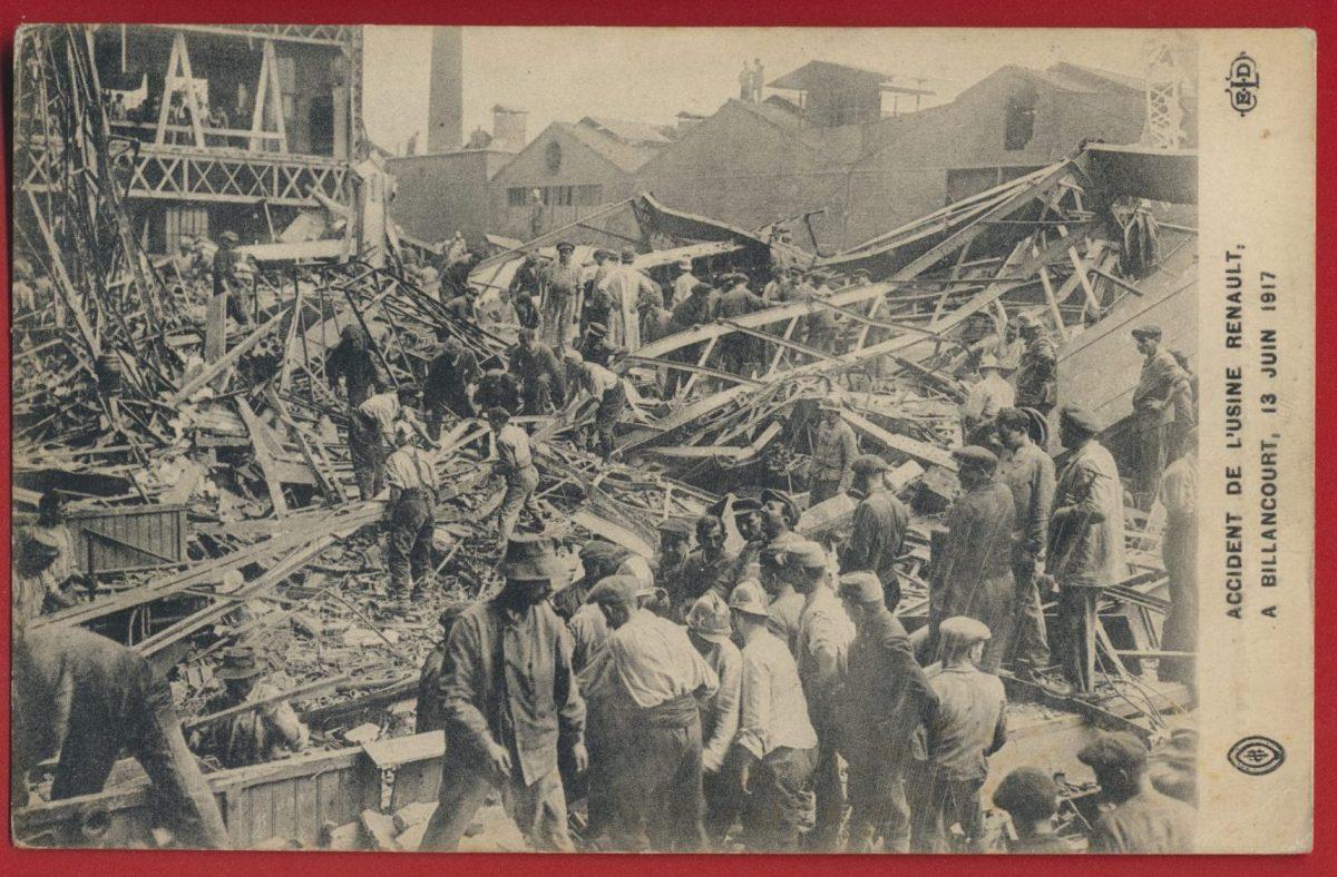 cpa-accident-usine-renault-billancourt-juin-1917