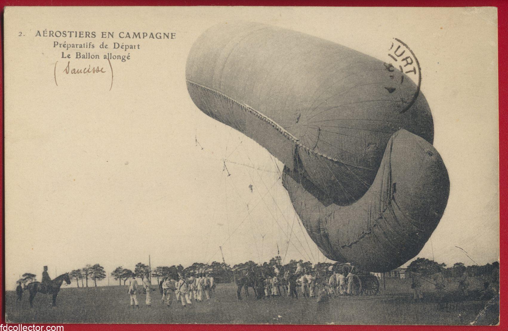 cpa-aerostiers-campagne-preparatifs-depart-ballon-allonge-saucisse