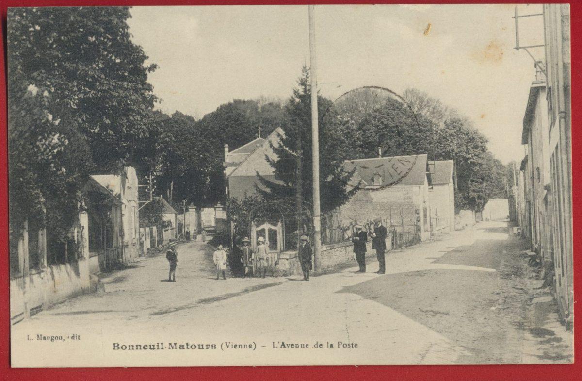 cpa-bonneuil-matours-vienne-avenue-poste