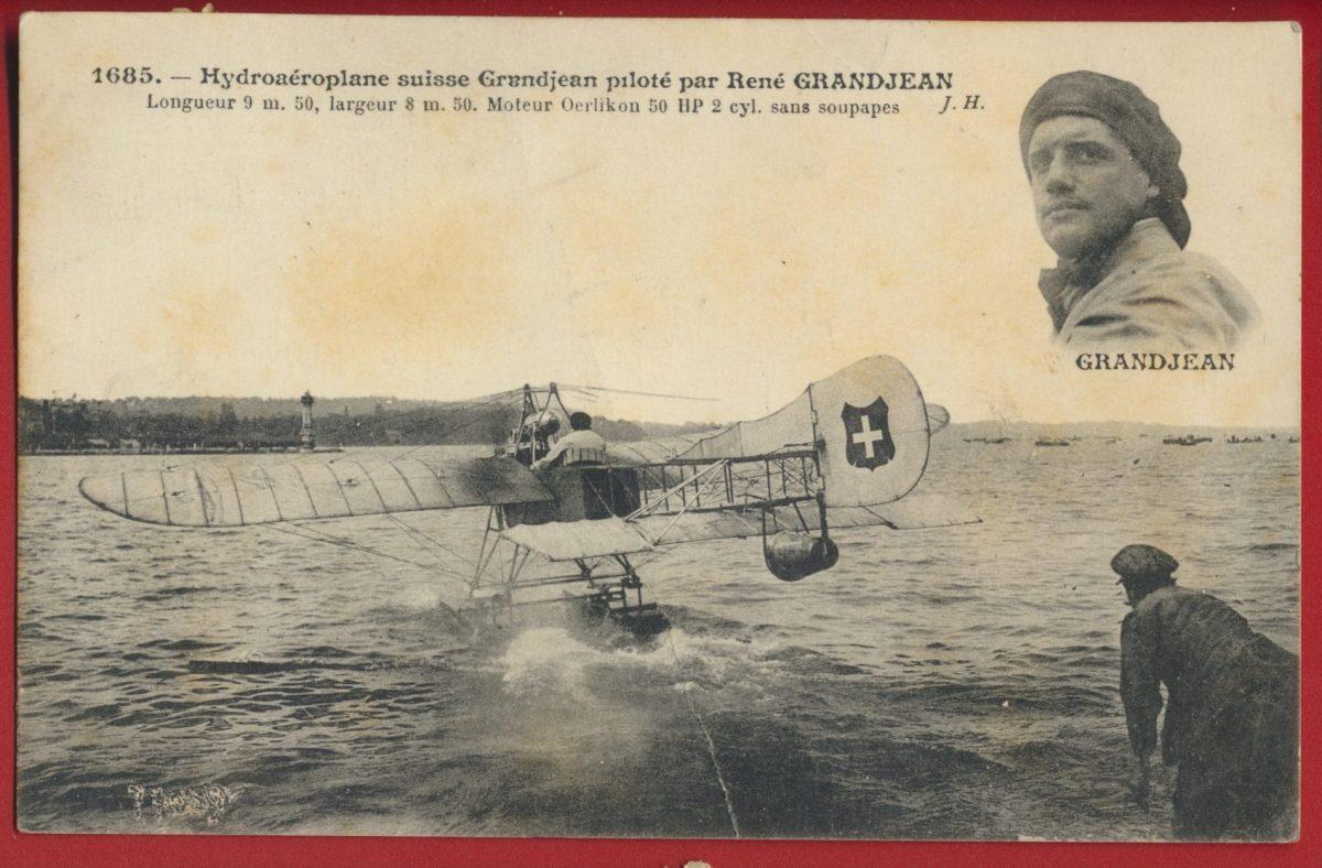 cpa-hydroaeroplane-suisse-granjean-pilote-rene-granjean