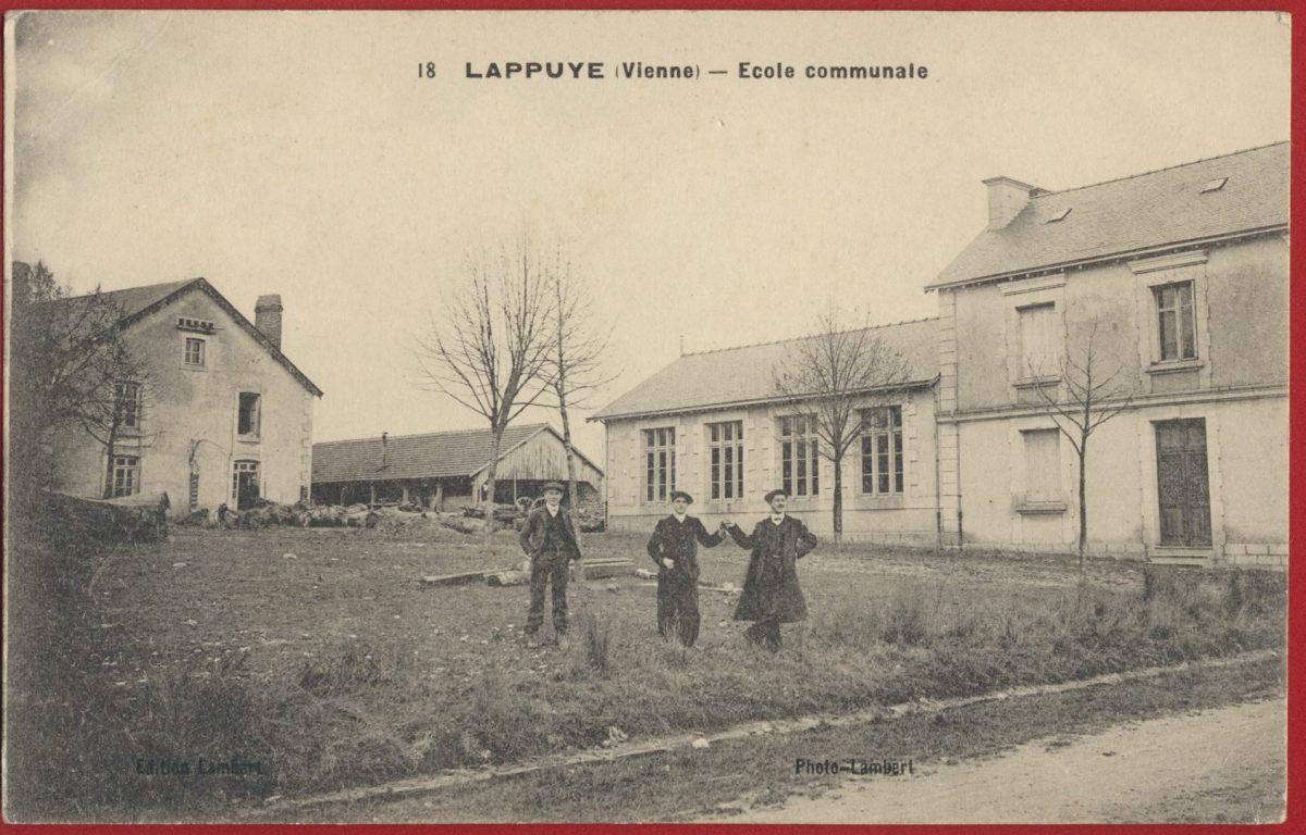 cpa-lappuye-vienne-ecole-communale