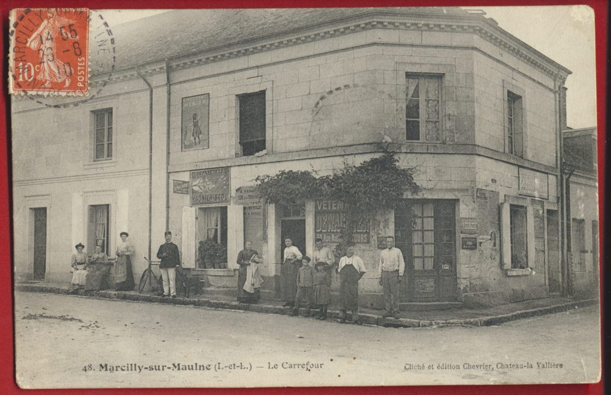cpa marcilly-sur-maulen indre loir carrefour