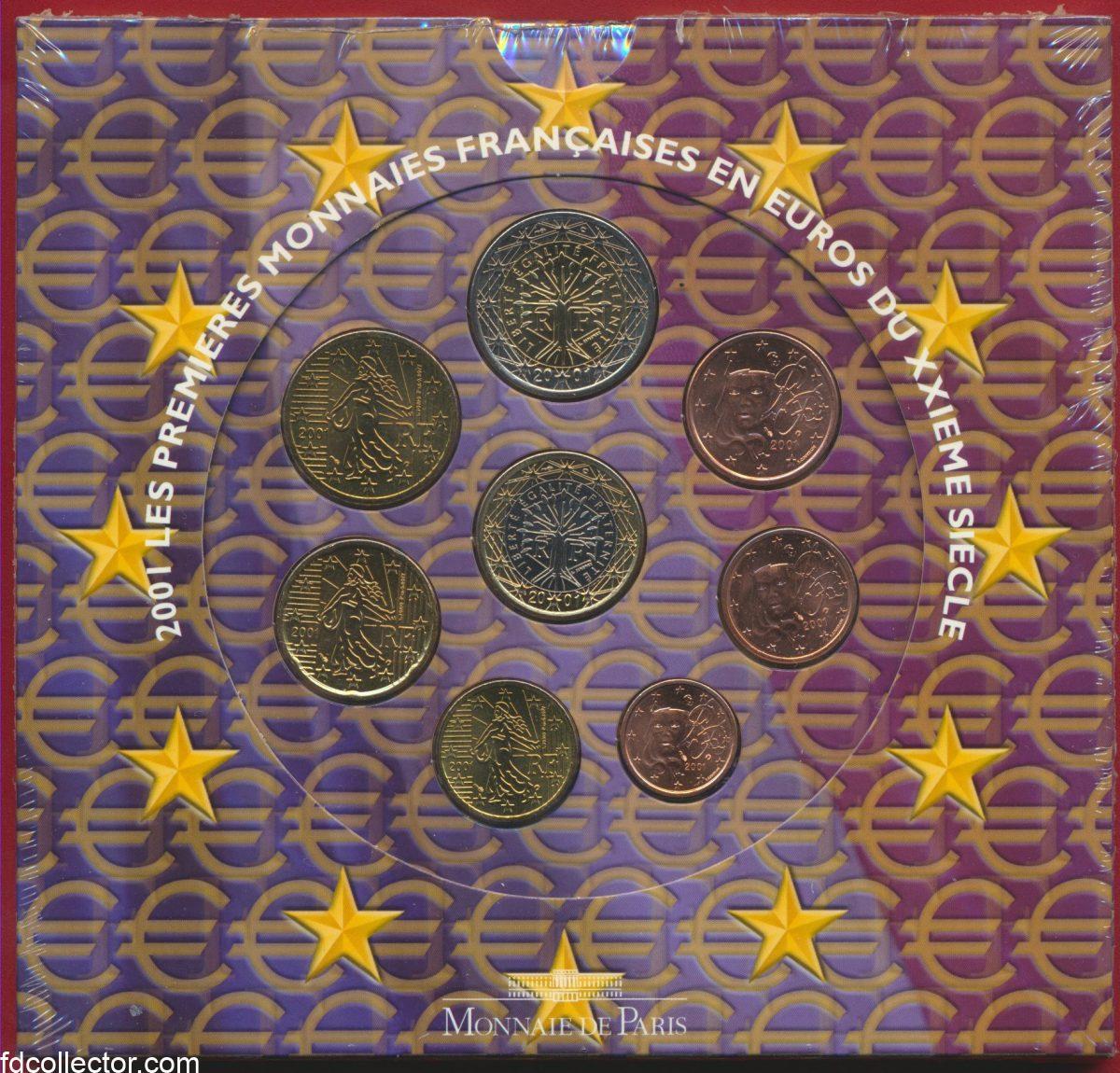 serie-officielle-monnaie-paris-euro-2001
