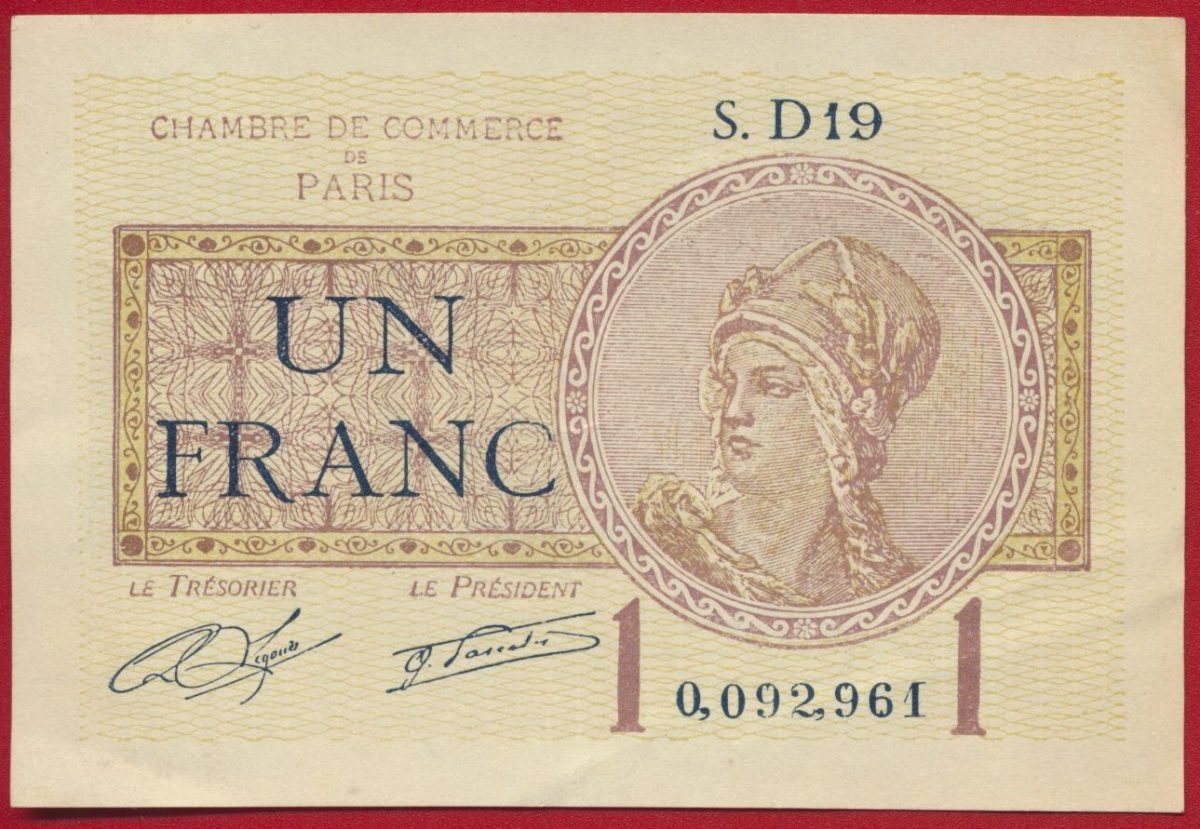 un franc chambre de commerce de paris sd19 0092961