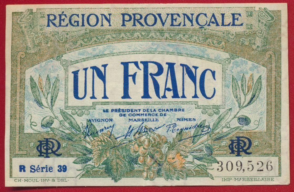 un franc region provencale serie 39 309526 avignon nice marseille