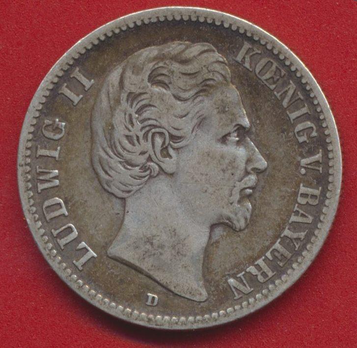 allemagne-baviere-louis-ludwig-bayern-1876-d-zwei-mark