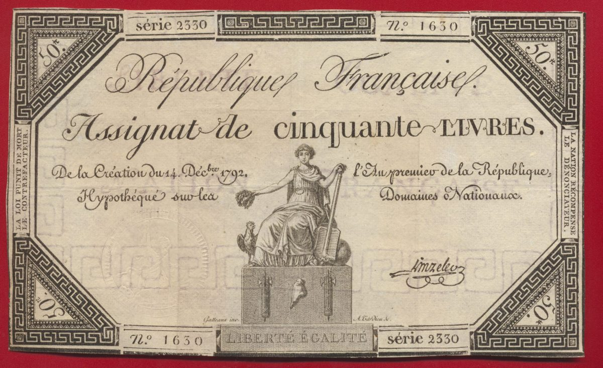 assignat-cinquante-livres-republique-francaise-linreler-signature-1792