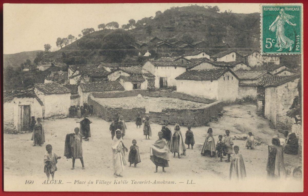 cpa-alger-place-village-kabile-taourirt-amokram