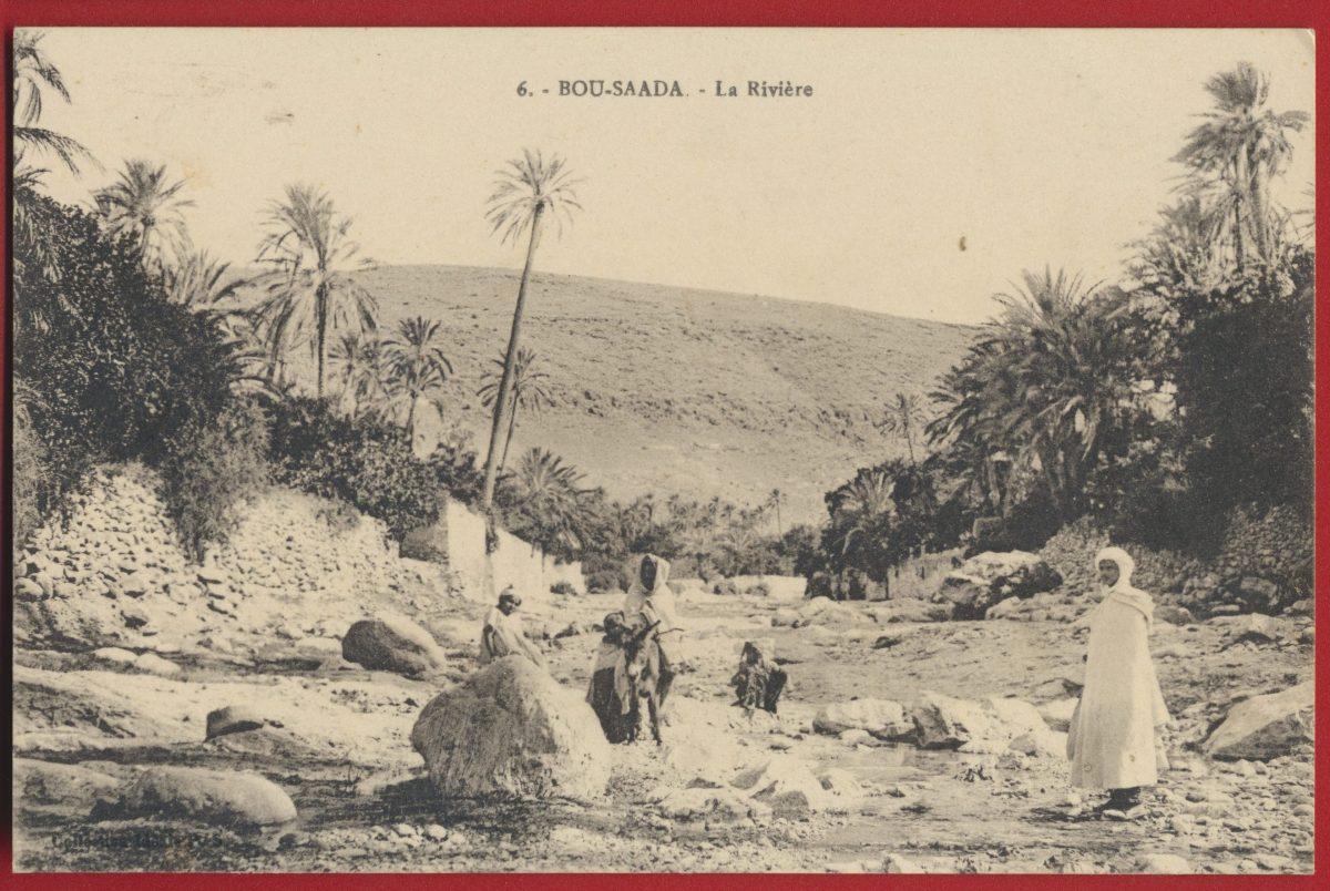 cpa-bou-saada-riviere