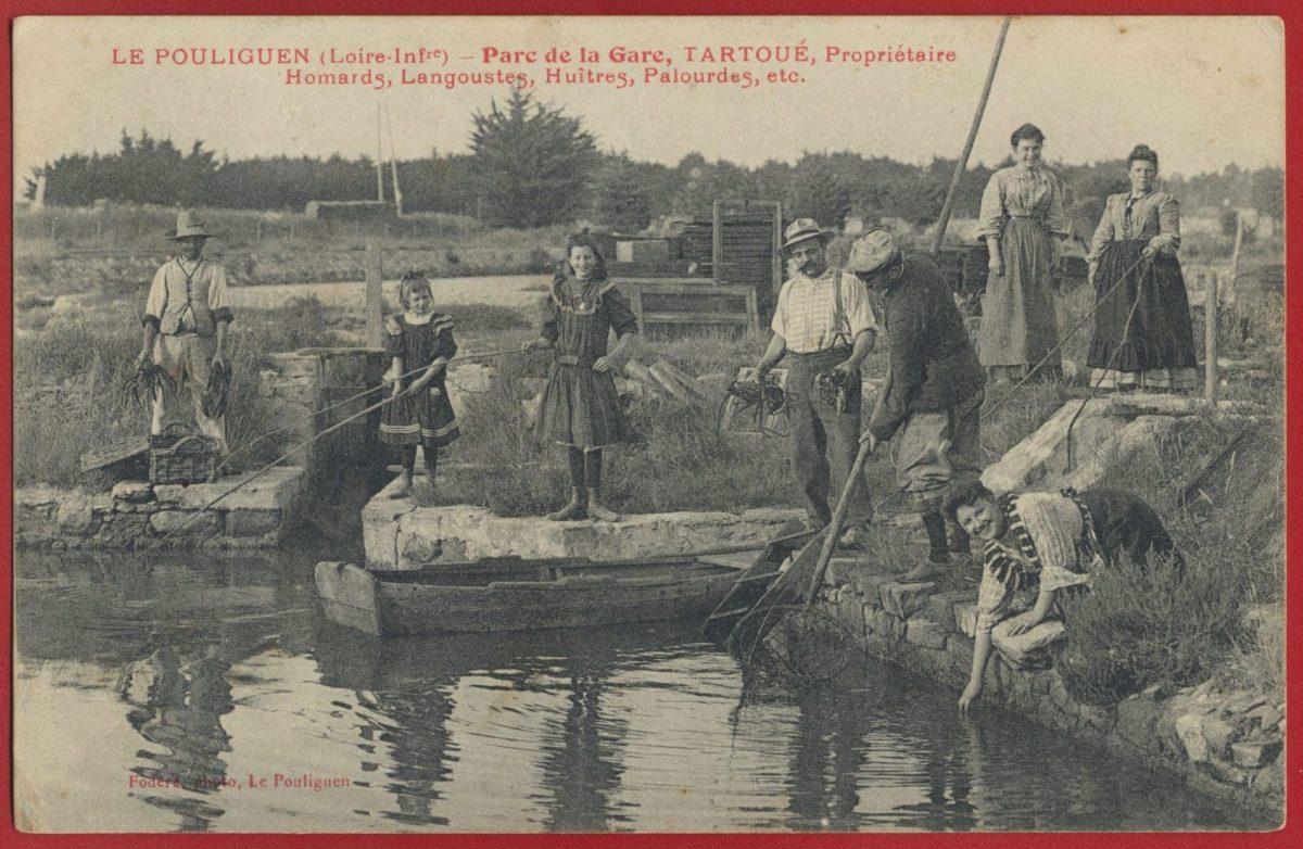 cpa-poulingen-parc-gare-tartoue-proprietaire-homards-langoustes-huitres-palourdes