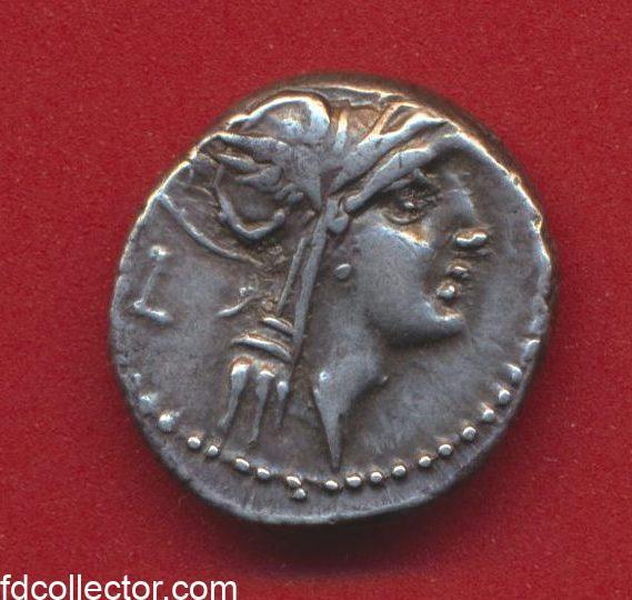 denier-argent-junius-silanus-republique-romaine-avers