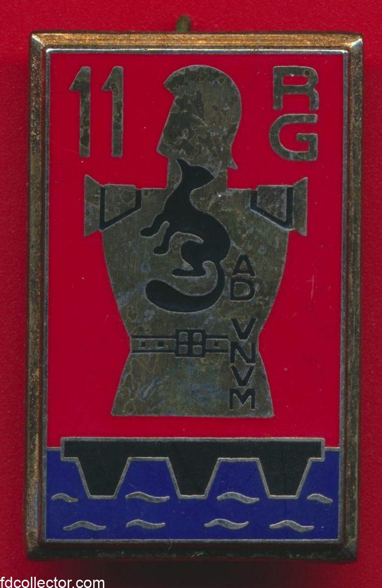insigne-11eme-regiment-genie-rastatt-allemagne-ffa