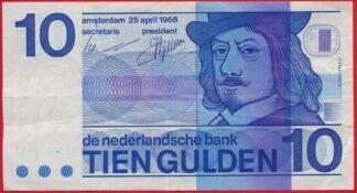pays-bas-netherland-25-avril-1968-april-tien-gulden-10-6613