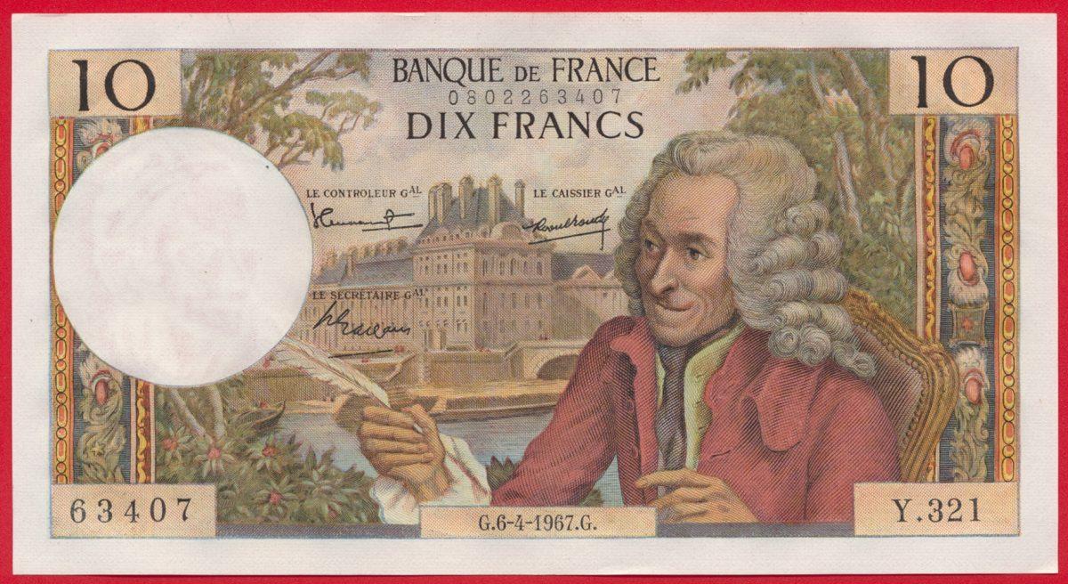 10-francs-voltaire-6-4-1967-banque-france-63407