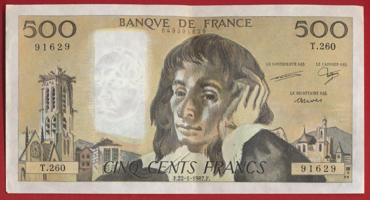 500-francs-pascal-22-1-1987-91629